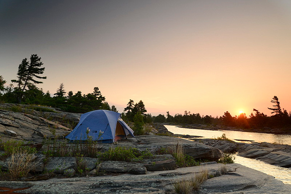 Georgian Bay campsite